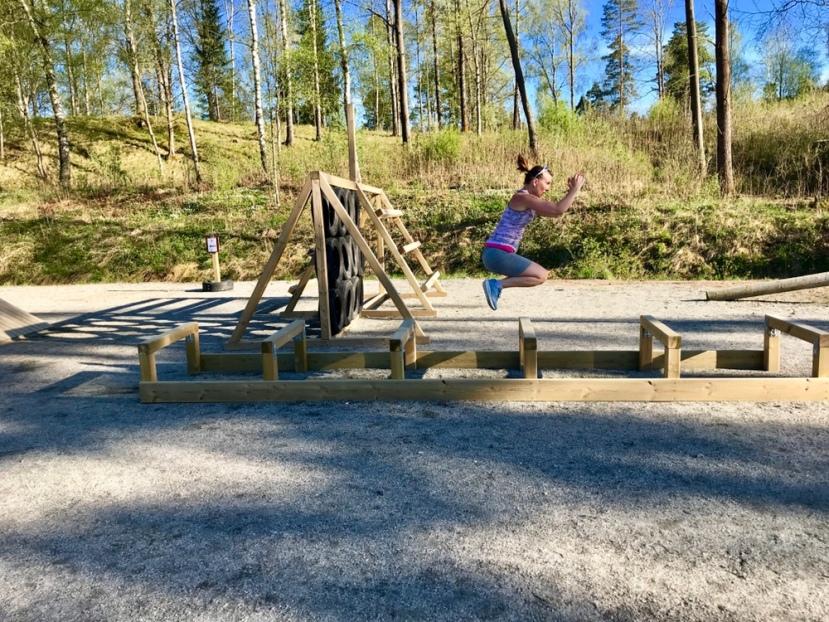 Hinderbana och utegym- ny formcheck eftergraviditeten