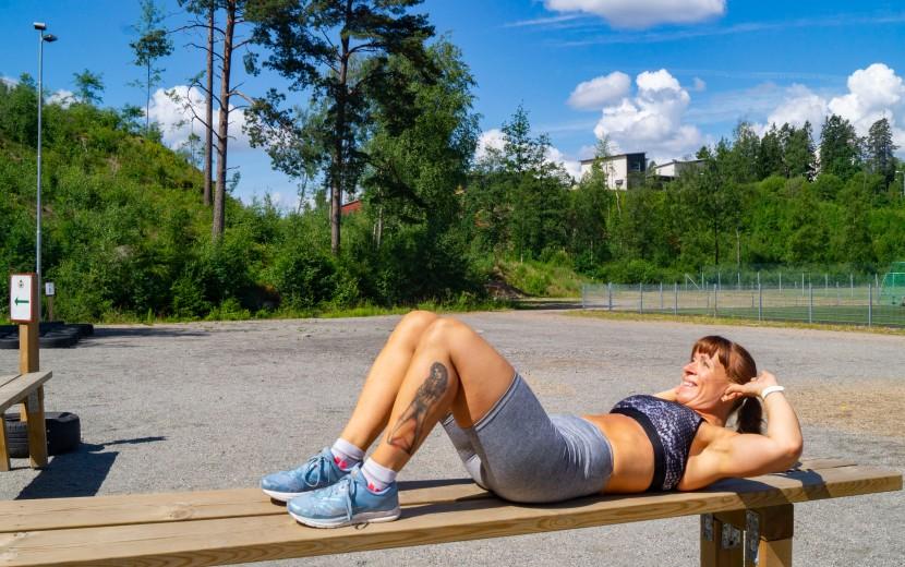 Testa om du har delademagmuskler