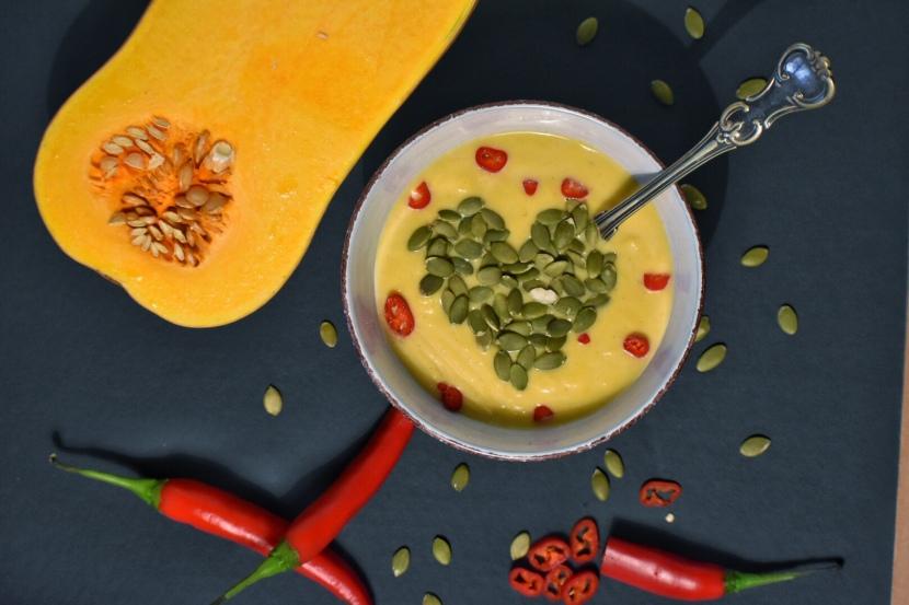 Pumpasoppa med chili